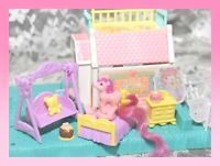 ❤️My Little Pony G1 Vtg PETITE Pony Prints Cabin Playset House Cottage & PONY❤️