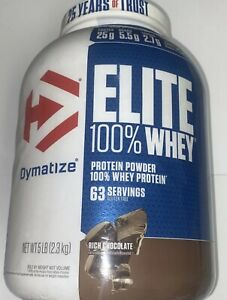 Dymatize Nutrition Elite 100% Whey Protein Powder Rich Chocolate - 5 lbs    4/22
