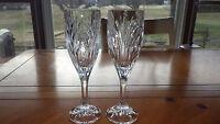 Cut Crystal Champagne Flutes Glasses Heavy Crystal Toasting Flutes 2 7oz flutes