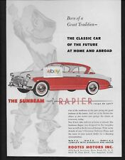 SUNBEAM ROOTES MOTOR CO RAPIER COUPE DE SPORT 1957 BORN OF GREAT TRADITION AD