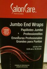 "Salon Care Professional Jumbo End Wraps 2.5"" x 4"" 1000 Sheets Processing Caps"
