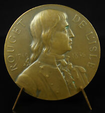 Médaille Parole Marseillaise Claude Joseph Rouget de Lisle Hymne de France 1911