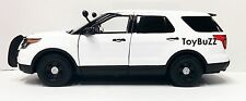MOTOR MAX 1:24 2015 FORD INTERCEPTOR UTILITY SUV PLAIN WHITE NO LIGHT BAR 76960