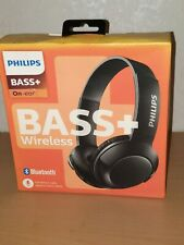 Philips Bass+ On-Ear Bluetooth Wireless Headphones - New - Damaged Box