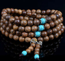 Multi Layer Sandalwood Buddhist Buddha Meditation 108 Prayer Beads Mala Bracelet