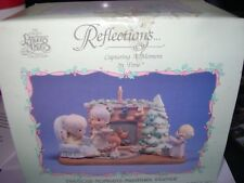 ENESCO PRECIOUS MOMENTS MINIATURE PEWTER FAMILY CHRISTMAS SCENE 6 PIECE SET