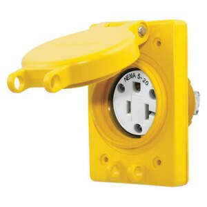 HUBBELL WIRING DEVICE-KELLEMS HBL60W33 Watertight Receptacle,20A,5-20R,125V