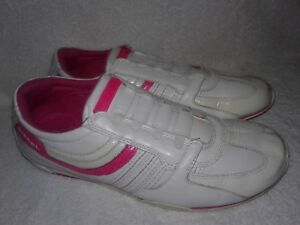Diesel  Fitness Shoes White & Pink Leather  Walking Women Sz 9