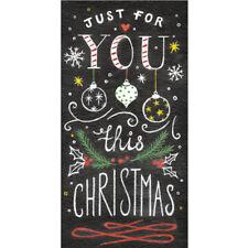 Tarjeta de Navidad (SINGLE) - Dinero Cartera-pizarra texto