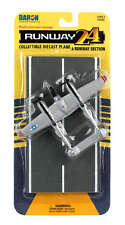 RUNWAY 24 P-38J Lightning - Silver - USAAF Diecast plane with runway section