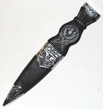 "Large Celtic Scottish Sgian Skean Dubh Dirk Dagger 10.5"" Knife Thistle Handle"