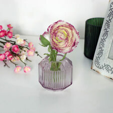 Small Pink Glass Tealight Holder wedding candle vase flower home decor gift