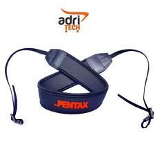 FOR PENTAX Cinghia Tracolla nero Neck Strap Nylon fotocamera Compatibile nera