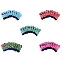 10pcs Stripe Knitting Golf Club Iron Head Covers Set for Callaway