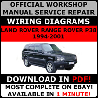 OFFICIAL WORKSHOP Service Repair MANUAL LAND ROVER RANGE ROVER P38 1994-2001