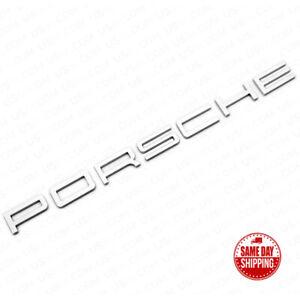 Chrome Look Porsche Letters Rear Badge Emblem Look Deck lid 958-559-687-01