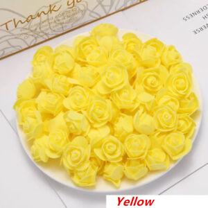 50/100/200/500 Artificial Flowers 3.5cm Foam Rose Heads Wedding Party Decor A1