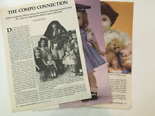 Composition Dolls Article~Deanna Durbin Sonja Henie Shirley Temple Baby Peggy+