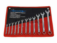 12PC METRIC FULLY POLISHED COMBINATION SPANNER WRENCH SET IN CASE 6-22MM CT