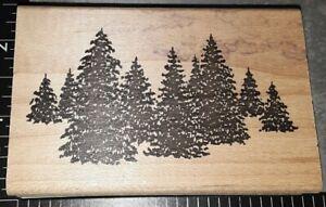 Black pine tree grove Hampton art, upside down,282,rubber, wood