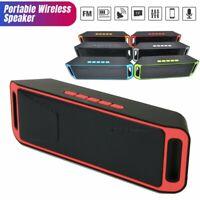 Bluetooth Wireless Speaker Subwoofer Portable Stereo Bass Dual Speaker TF FM AUX