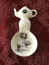 Clumber Spaniel Dog New Handmade Ceramic-Porcelain Tea Bag Spoon Rest Gift Pets
