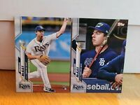 Brendan McKay 2020 Topps Rookie RC Tampa Bay Rays Base and Short Print Set