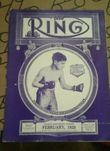 Vintage Original Ring Boxing Magazine. February 1925. Izzy Schwartz Cover.