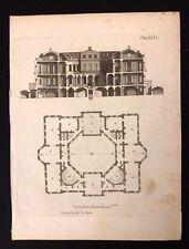 Antigüedad 1800 impresión arquitectónico constructores revista en la sección de un hospital XXIX
