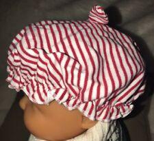 NEW Nursery Rhyme Christmas Striped Santa Claus Baby Hat Girl Sz 3/6 Months