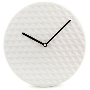 Minimalist Ceramic Wall Clock Modern Home Office Kitchen Room Decor 29cm White