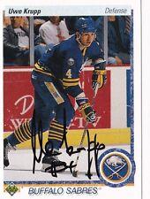 Uwe Krupp Buffalo Sabres Autographed 90/91 Upper Deck Card W/COA