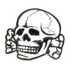Skull Skeleton Head Funny Gothic Belt Buckle Fiend Monster Tattoo Motorcyclist