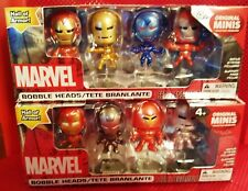 MARVEL IRON MAN HALL OF ARMOUR BOBBLE HEAD FIGURE COLLECTION SET OF 8 NEW BOXED