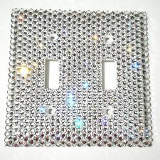 Rhinestone BLING Double Light Switch Cover Plate made with Swarovski Crystals