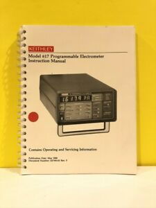 Keithley 617-901-01 Model 617 Programmable Electrometer Instruction Manual