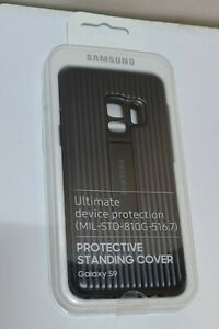 Genuine Samsung Galaxy S9 Black Protective Standing Back Cover / Case