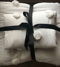 NEW Pottery Barn/PBTeen White Crinkle Puff Quilt/Bedspread TWIN w/ Standard Sham
