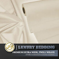 """Curtain Lining Fabric Extra Wide 108"""" Inch Premium Twill Weave Per Metre Ivory"""