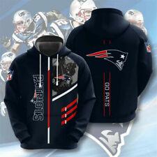 New England Patriots Sudadera con Capucha para Hombre Chaqueta Casual Sudadera los aficionados al fútbol