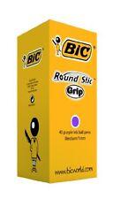 BIC Round Stic Grip Ballpoint Pens Purple 40 Box