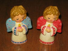 2 Vintage Christmas Angel Figurines/Hand Made Korea/1970s/60s