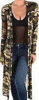 KMO Funfash Sheer Women Army Green Mesh Kimono Duster Cardigan Coat S M L