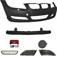 Set Kit Bumper Front For BMW 3er E90 E91 Year 08-11+ Straps+ Grill +