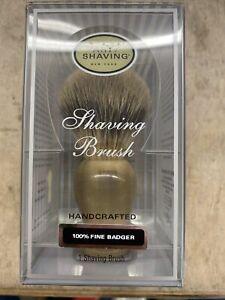 The Art of Shaving Handcrafted 100% Fine Badger Shaving Brush - White