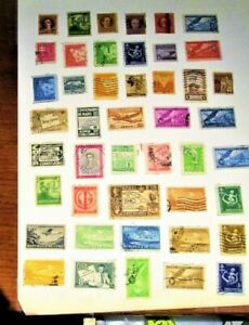 Caribbean Island, 193-1948, Lot of (45)  Used , Hinged Stamps