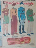 Jane Arden Sunday with Large Uncut Paper Doll from 5/12/1940 Full Size Page!