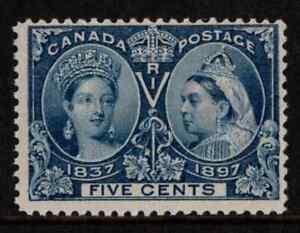 Canada 1897 QV Jubilee 5c Deep Blue SG 128 Cat £55 MNH