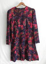 Vtg Chel'Sea  L'TD Dress Petite Size 10 Multicolor Long Sleeve Floral Pattern .