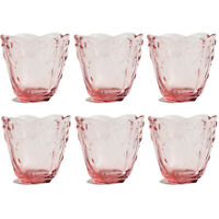 Love Juice glass, Drinkware glass, Capacity 6 ounce, set of 6- Color: Pink